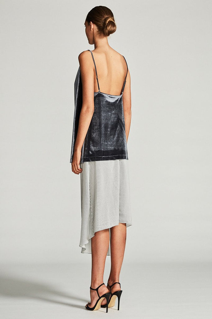 ELECTRA COWL CAMISOLE - CHARCOAL