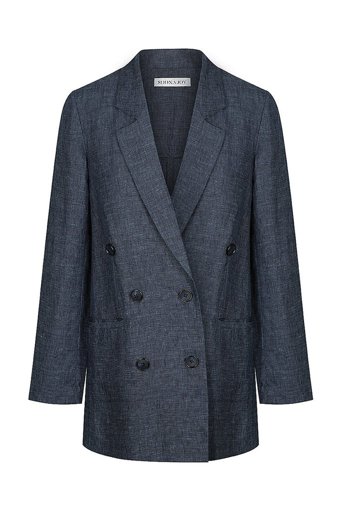 CARDOZO LINEN DOUBLE BREASTED JACKET