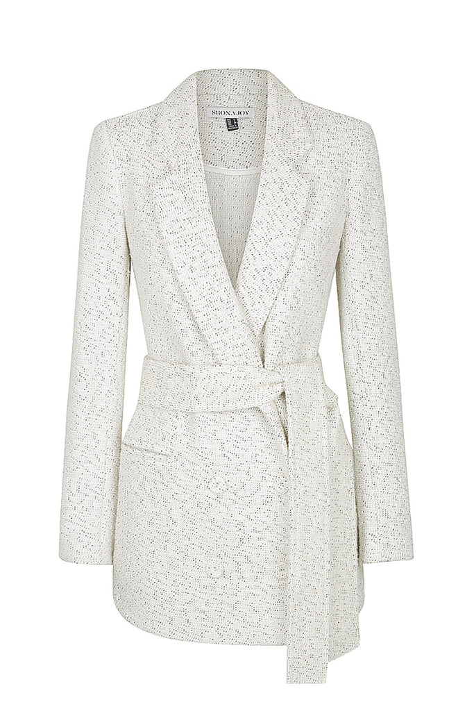 EDIE DOUBLE BREASTED BLAZER WITH BELT