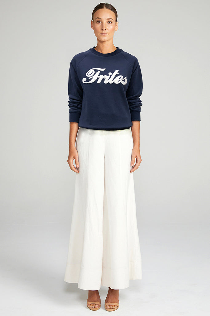 FRITES JUMPER - NAVY & WHITE