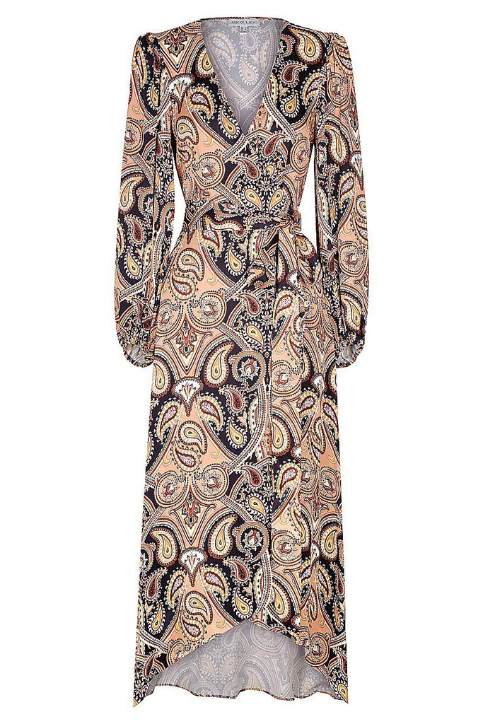 HENDRIX WRAP MIDI DRESS