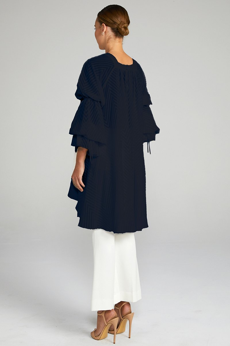 JEAN PUFF SLEEVE TUNIC - NAVY
