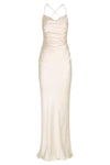 LA LUNE LACE BACK MAXI DRESS - CREAM