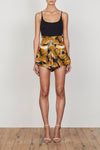 PHOENIX PAPERBAG SHORT - BLACK/YELLOW