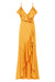 ORO BIAS FRILL WRAP DRESS - SAFFRON