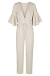 SAVANNAH LINEN JUMPSUIT - NATURAL