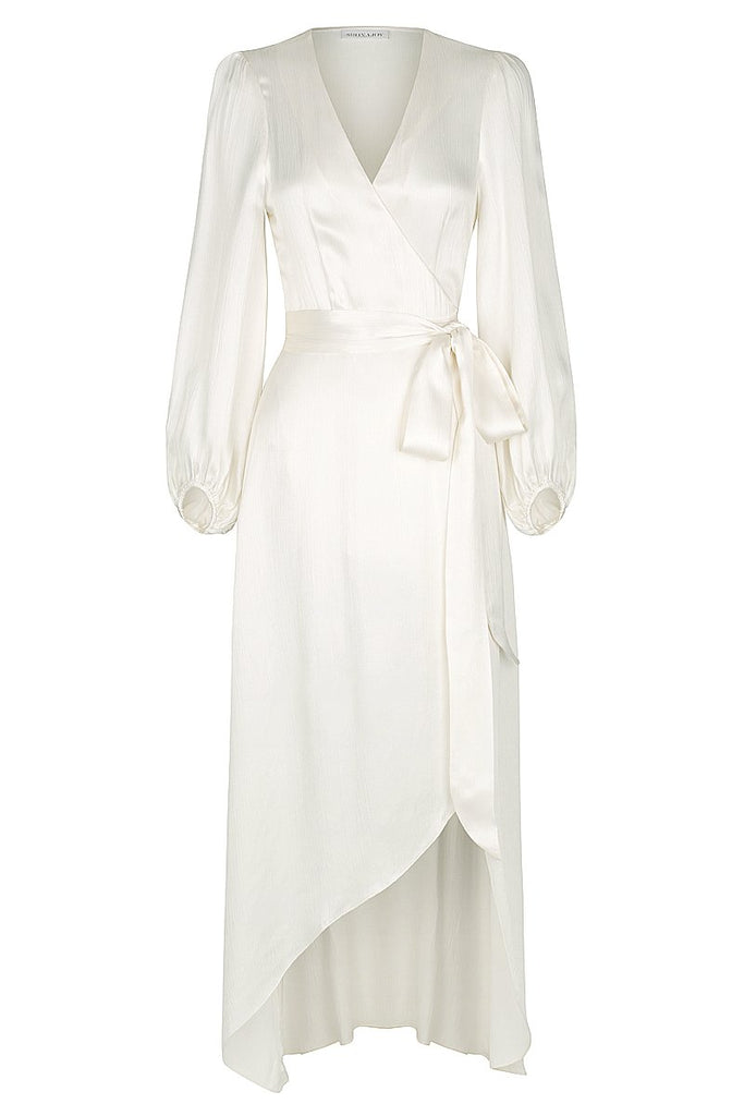 f802c74ff0 ELTON WRAP MIDI DRESS - IVORY ...