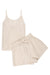 SOPHIE LINEN PJ SET - CREAM/NATURAL