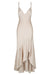 ORO BIAS FRILL MIDI DRESS - TAUPE