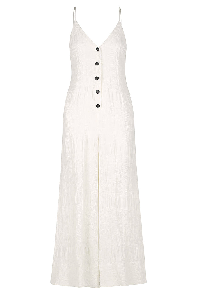 CHIARO LINEN FLARED JUMPSUIT - IVORY