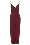 CORE COCKTAIL DRESS - BURGUNDY