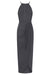 CORE HIGH NECK RUCHED DRESS - CHARCOAL