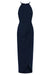 CORE HIGH NECK RUCHED DRESS - NAVY