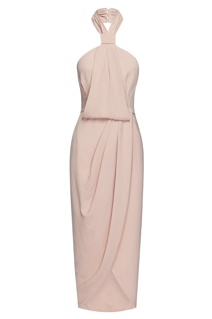 CORE KNOT DRAPED DRESS - BALLET