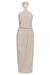 CORE KNOT DRAPED DRESS - OYSTER