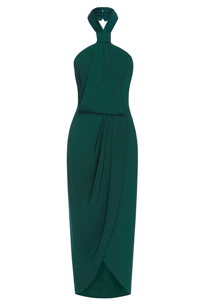 select for genuine wholesale price save off CORE KNOT DRAPED DRESS - SEAWEED