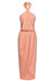CORE KNOT DRAPED DRESS - DUSTY PINK