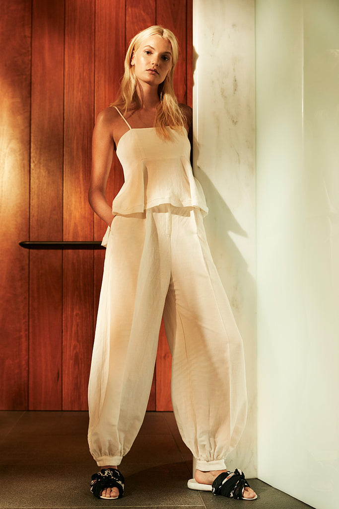 DAWN TAILORED HAREM PANT - CREAM