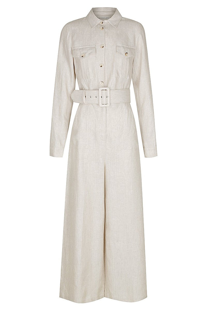 HAMILTON LINEN TAILORED JUMPSUIT