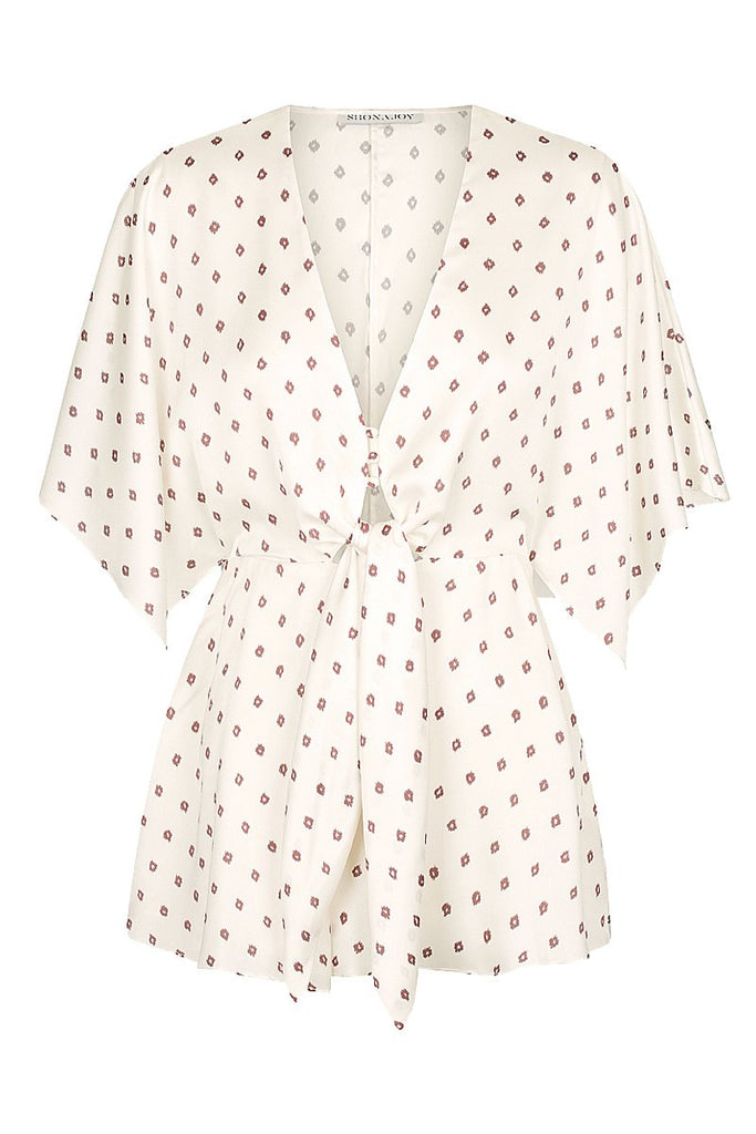 LUCIANA TIE FRONT PLAYSUIT