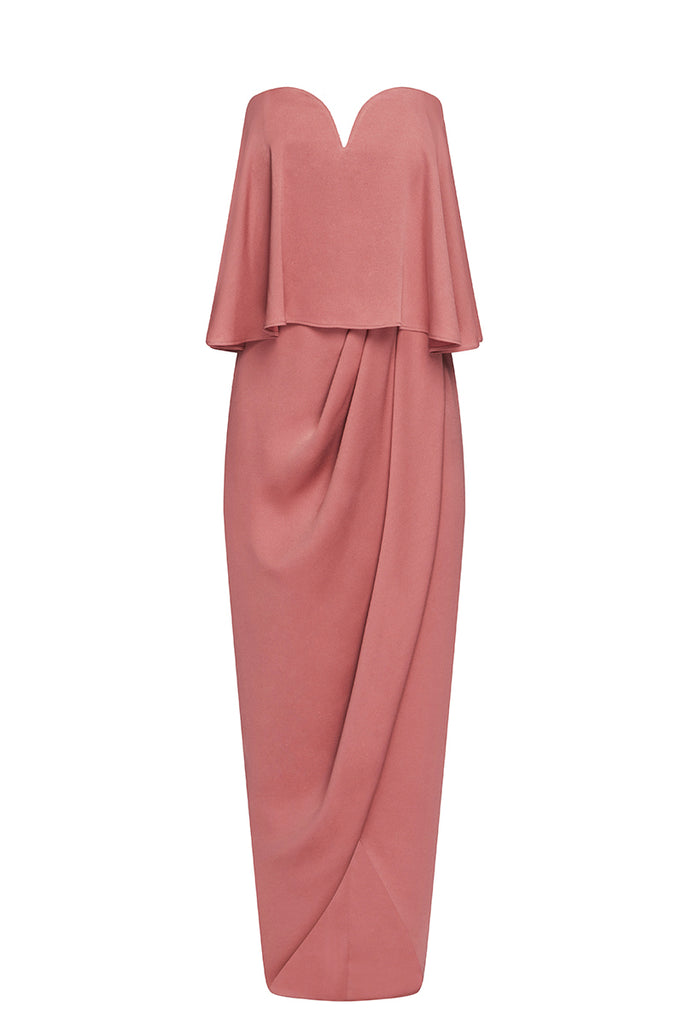 LUXE 'U' WIRE FRILL DRESS - ROSE