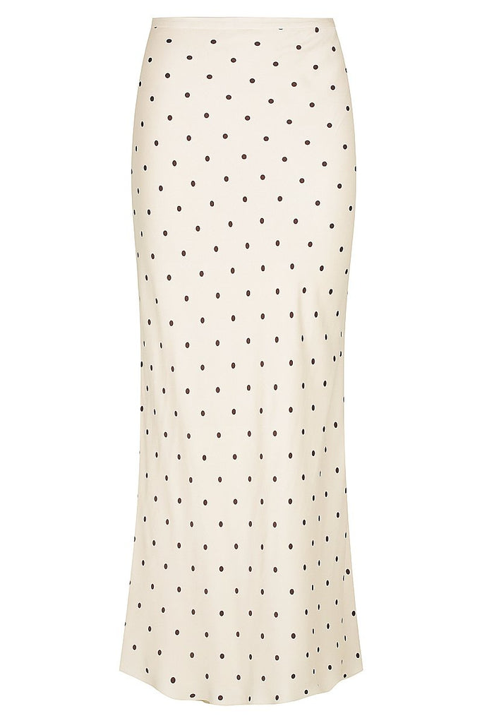 O'DELL BIAS MIDI SKIRT - CREAM