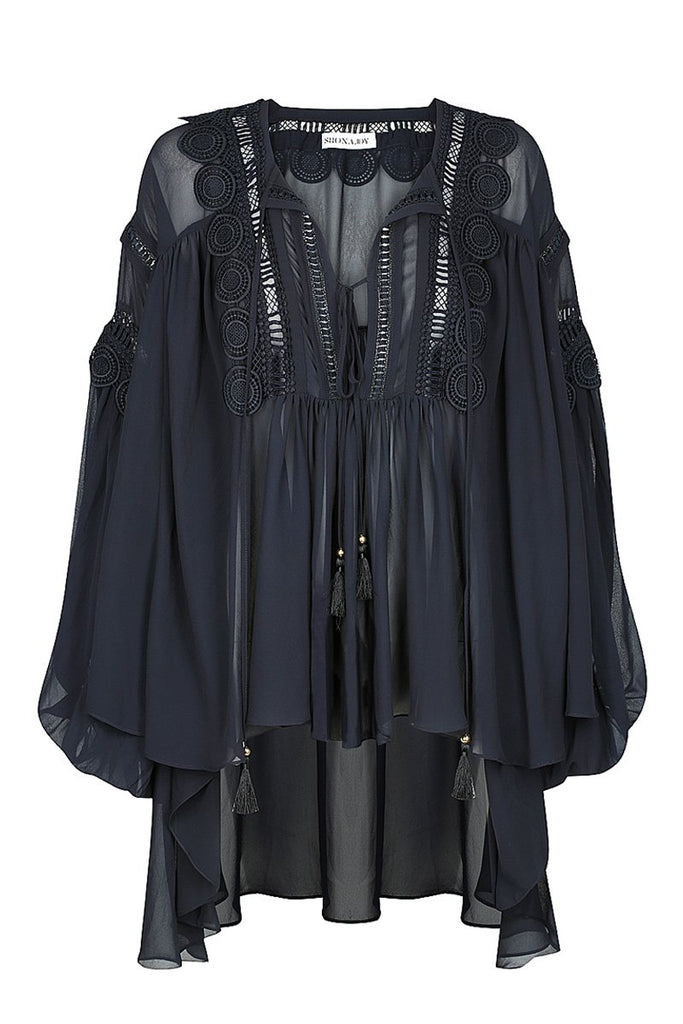 RAFAELLA OVERSIZED BLOUSE - FRENCH NAVY