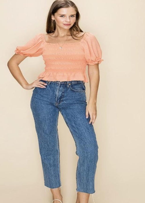 Sweet As A Peach Top  - Kris Janel