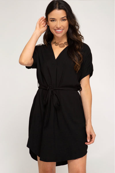 Drop Shoulder Dress  - Kris Janel