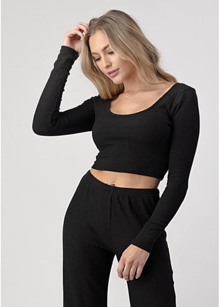 Ribbed Off Shoulder Bodysuit