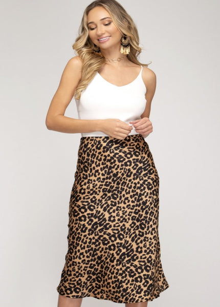 Jungle Vibes Satin Skirt  - Kris Janel