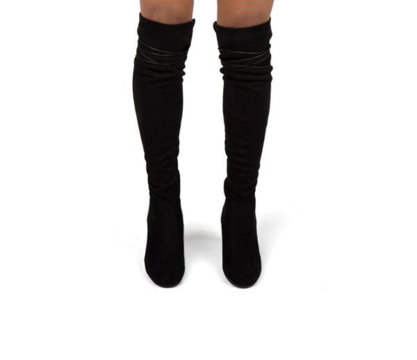 Feelings For What Knee High Boots  - Kris Janel