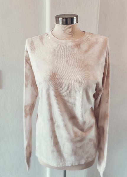 Long Sleeve Neutral Tie Dye Tee