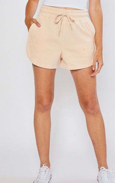 Terry Shorts Set - Salmon