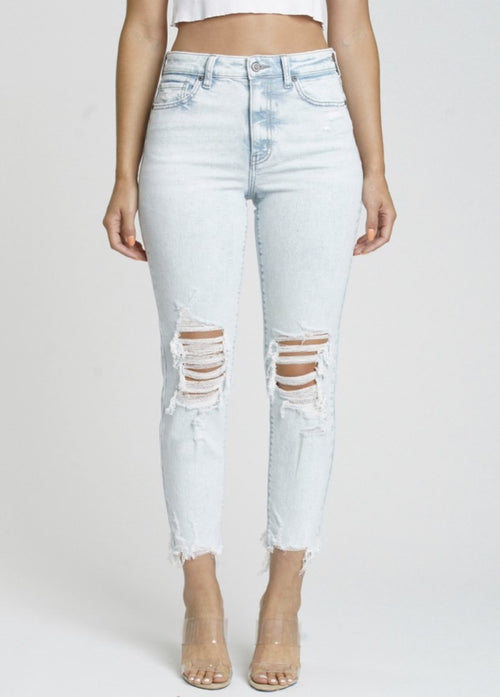 Playing For Keeps Mom Crop Jeans