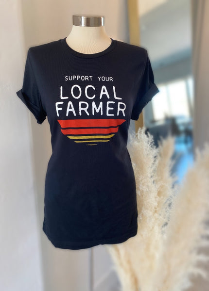 "Vintage ""Support Your Local Farmer"" Tee"