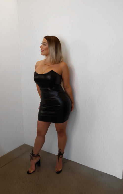 Faux Leather Dress  - Kris Janel