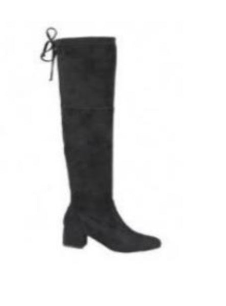Curb Appeal Suede Tall Boots - Black  - Kris Janel