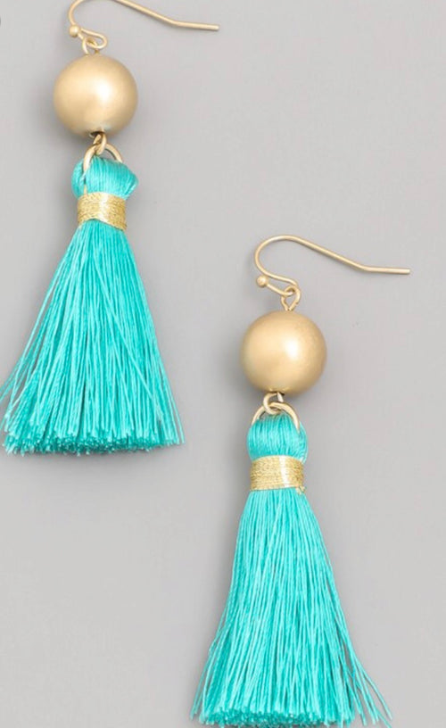 Drop Tassle Earrings  - Kris Janel