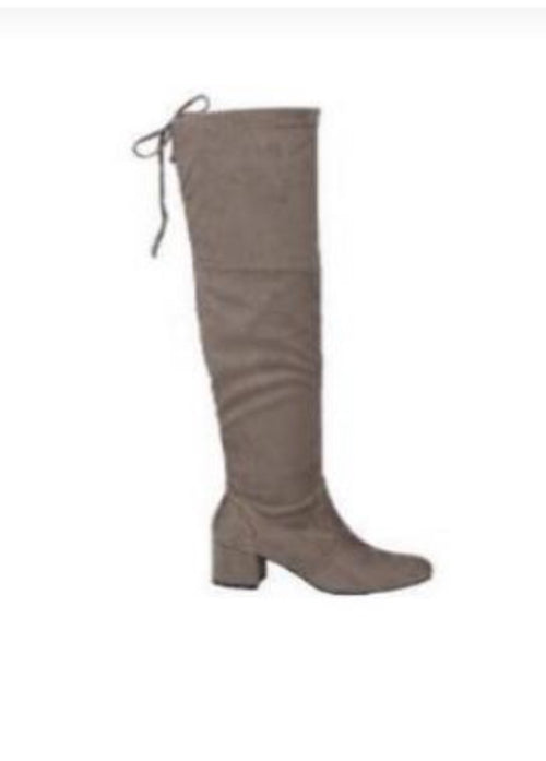 Curb Appeal Suede Tall Boots - Taupe  - Kris Janel