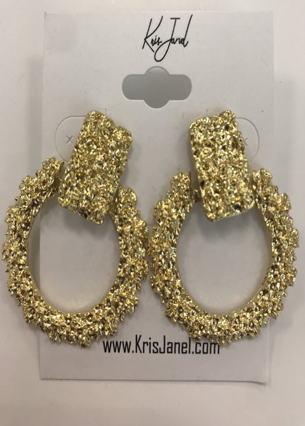 Frosted Hoop Earrings  - Kris Janel