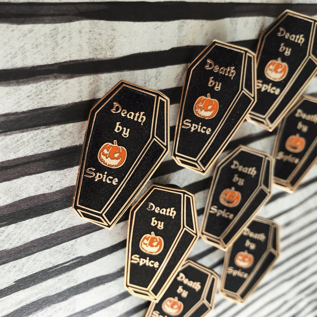 DEATH BY PUMPKIN SPICE PIN