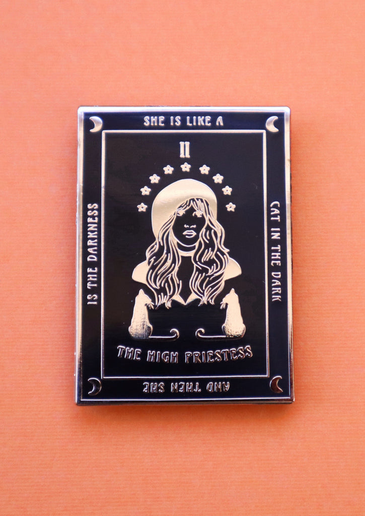 STEVIE THE HIGH PRIESTESS TAROT PIN