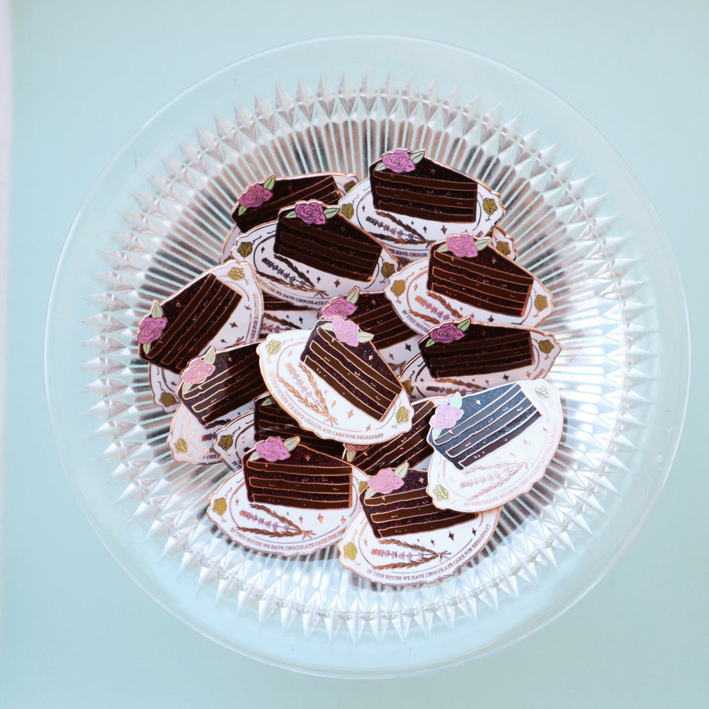 CHOCOLATE CAKE FOR BREAKFAST PIN
