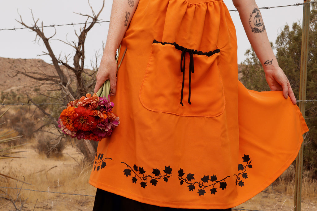 PUMPKIN PINAFORE APRON DRESS