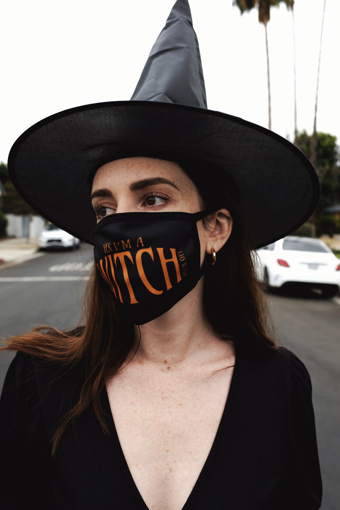 YES I'M A WITCH FUCK OFF FACE MASK