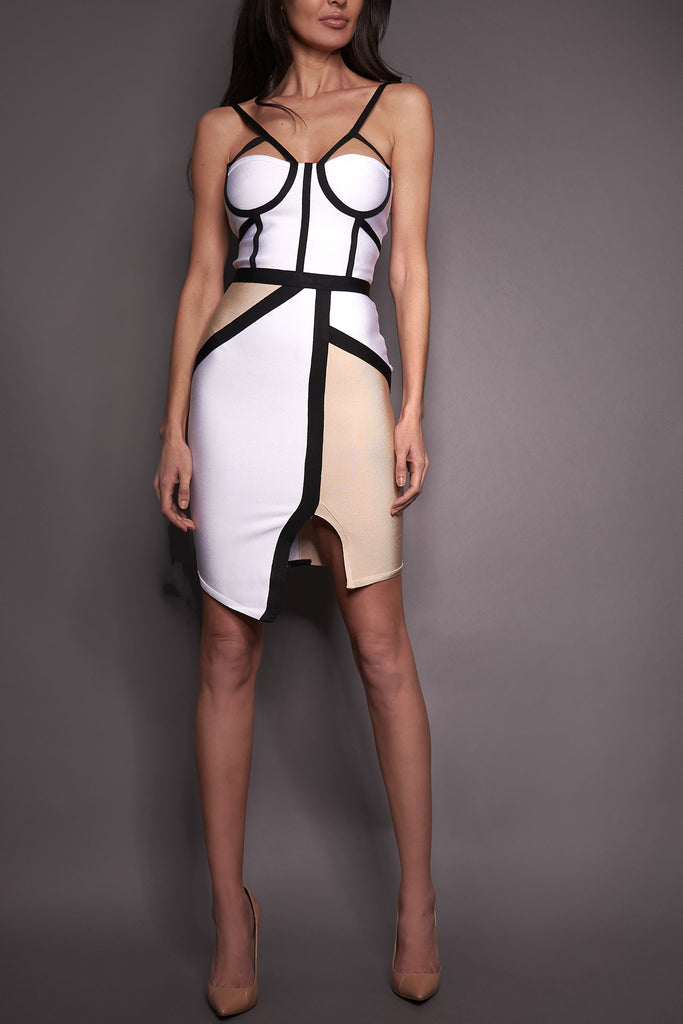 Aura Split Front Bandage Dress