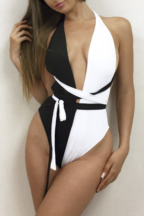 Monaco Monochrome Swimsuit