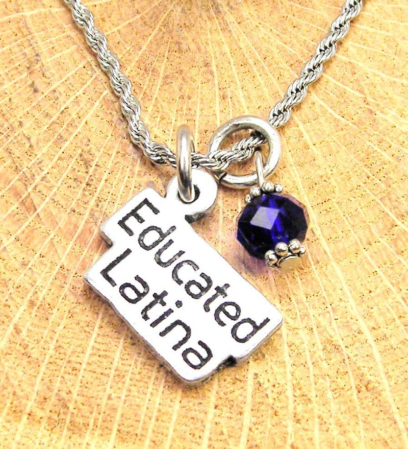 Chubby Chico Charms - Educated Latina Necklace Royal Blue