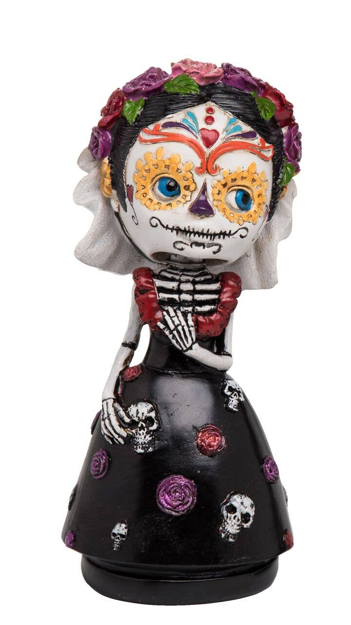 Transpac - Resin Day Of The Dead Female Bobble Head
